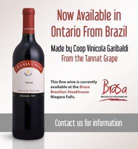Vinho Granja União na Churrascaria Brasa - Canadá